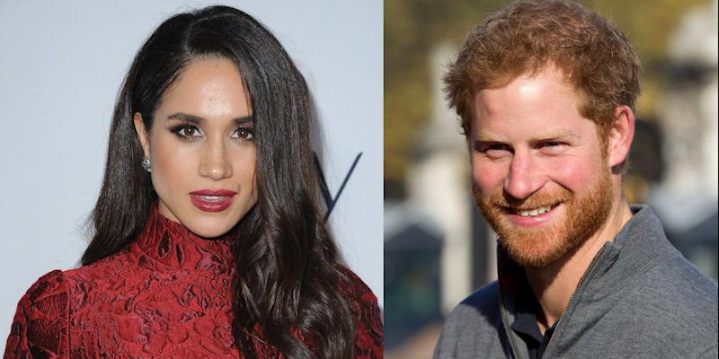 Meghan Markle and Prince Harry Photographed Together for First Time