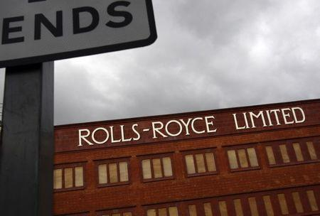A closed Rolls Royce building is seen in Derby, central England