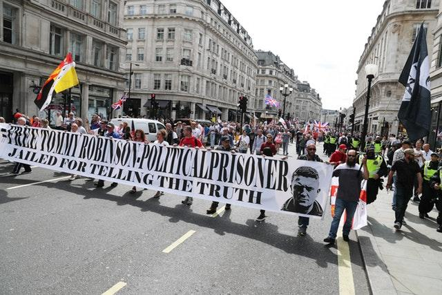 Tommy Robinson protesters