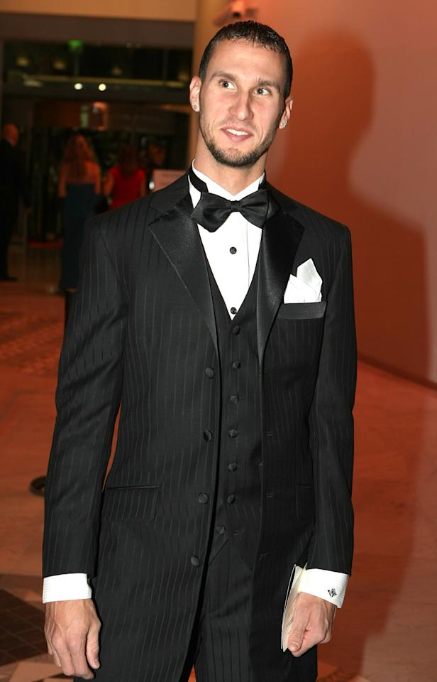 U.S. track athlete specializing in the 400 meters, Jeremy Wariner, arrives for the 2010 World Athletics Gala Awards Sunday, Nov. 21, 2010, in Monaco.
