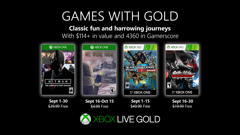 Games For Gold September 2020.Hitman And Tekken Highlight Xbox Games With Gold For