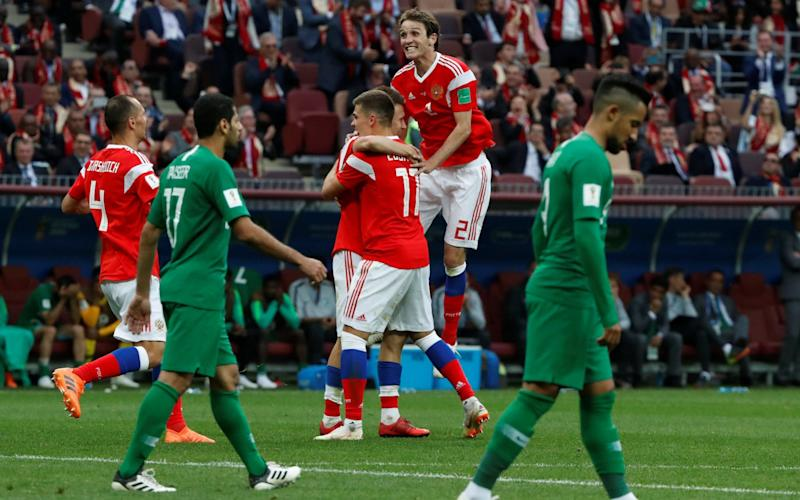 Russia kicked off the World Cup with a 5-0 win over Saudi Arabia - REUTERS