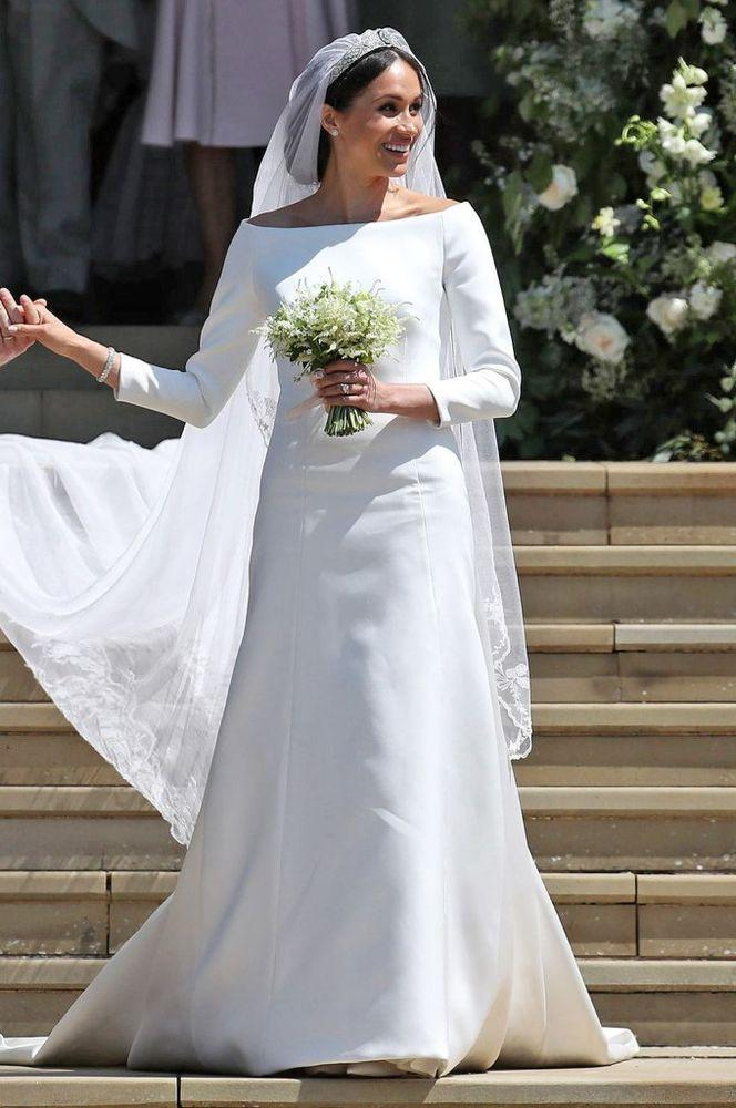 Meghan Markle in Givenchy on her wedding day. | Meghan Markle