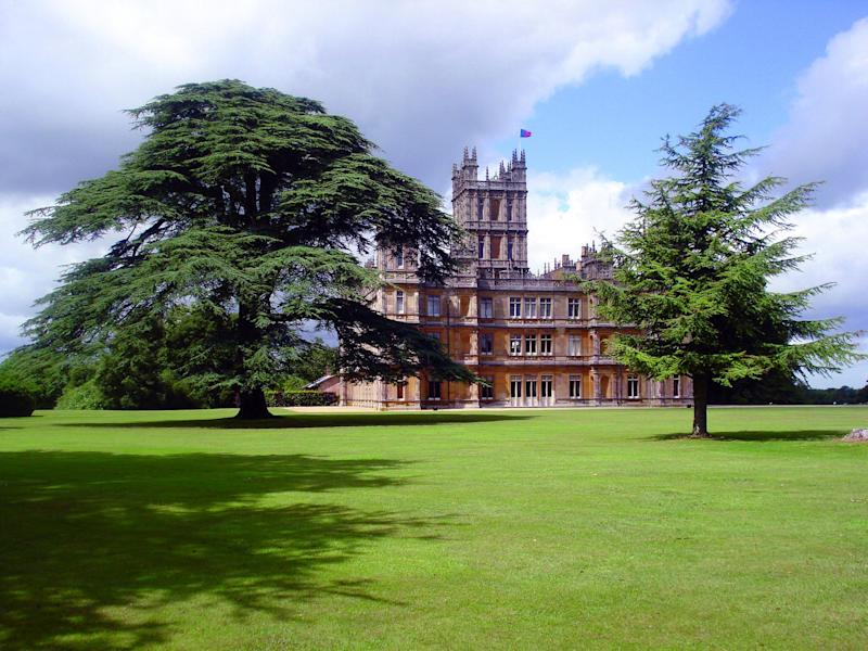 Highclere Castle, more commonly known these days as Downton Abbey