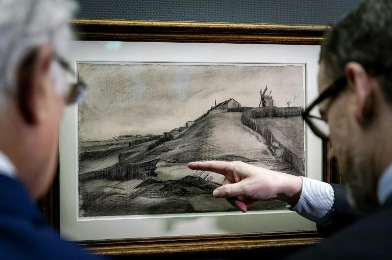 Two Van Gogh drawings have gone on display after gathering dust for more than 100 years