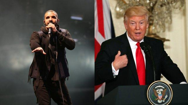 Drake slams Donald Trump during London gig