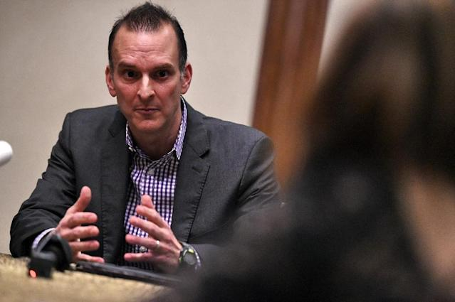 Travis Tygart, chief executive of the US Anti-Doping Agency says that the Russian sports system was rotten to the core (AFP Photo/ROSLAN RAHMAN)