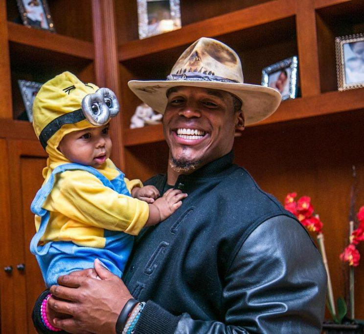 Cam Newton and his adorable son, Chosen. (Photo: Instagram)