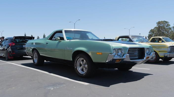 Buena Park, USA - April 30, 2017: Ford Ranchero 1972 on display during the Fabulous Fords Forever