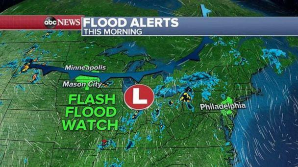 PHOTO: Flood alerts were issued Wednesday morning. (ABC News)