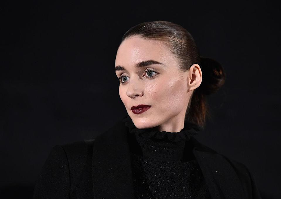 "<p>Oxblood added definition and elegance to Rooney Mara's minimalist look at the American Cinematheque's Screening and Q&A for The Weinstein Company's ""Carol"" at the Egyptian Theatre. <i>(Photo by Alberto E. Rodriguez/Getty Images)</i><br></p>"