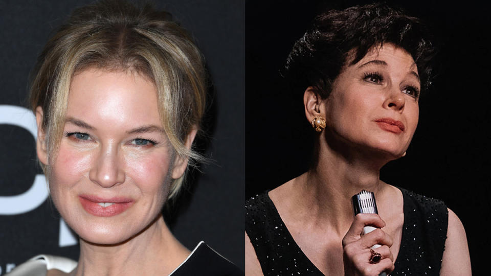 The former Bridget Jones transformed herself into Hollywood icon Judy Garland for the biopic <em>Judy</em>. She'll be hoping to find an Oscar somewhere over the rainbow. (Credit: Steve Granitz/WireImage/Pathe)