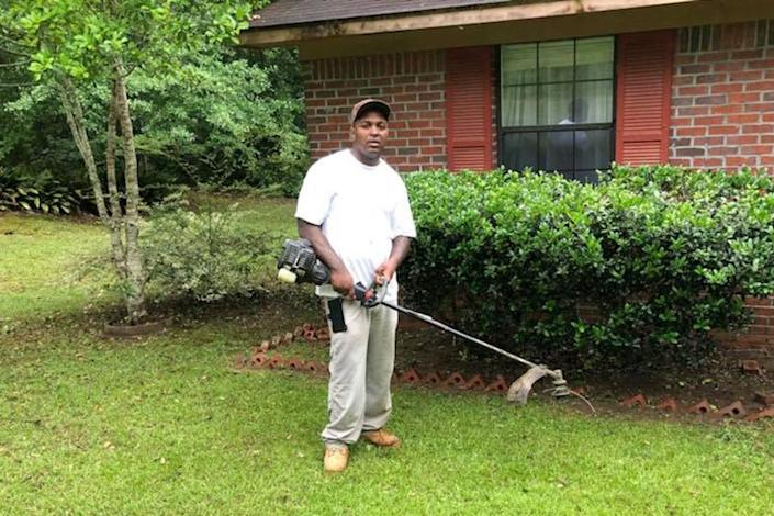 Carlos Lynn ran his own landscaping business when he wasn't working for PSSI. (Courtesy Beverly Gamble)