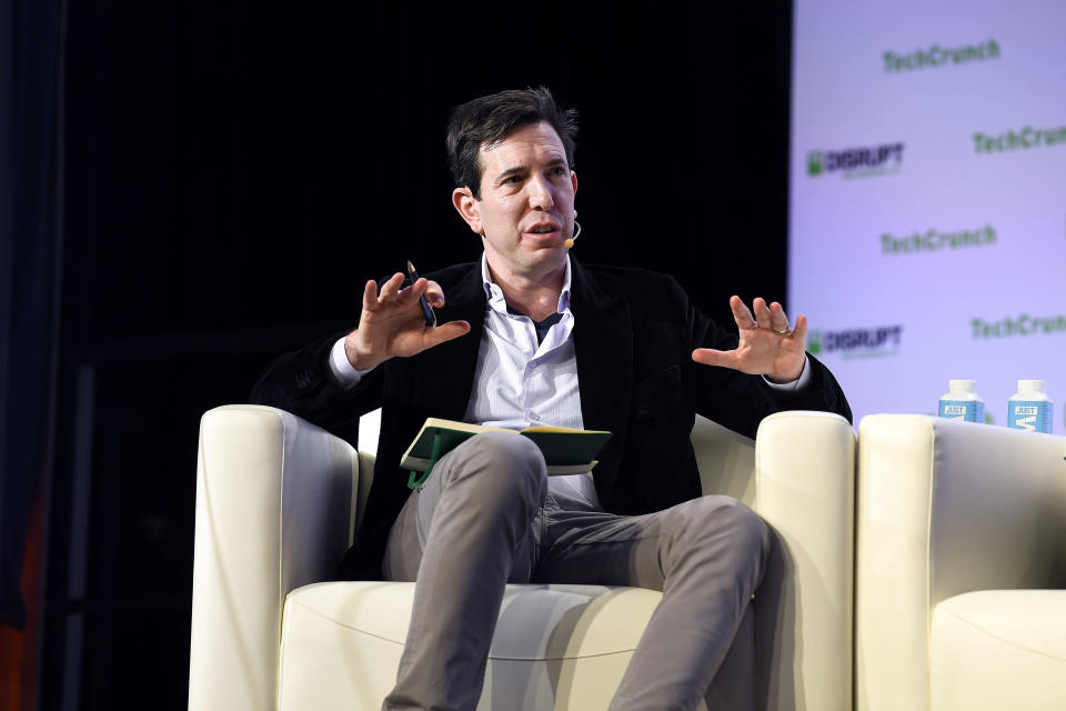 SAN FRANCISCO, CALIFORNIA - OCTOBER 03: Tusk Ventures Founder & CEO Bradley Tusk speaks onstage during TechCrunch Disrupt San Francisco 2019 at Moscone Convention Center on October 03, 2019 in San Francisco, California. (Photo by Steve Jennings/Getty Images for TechCrunch)