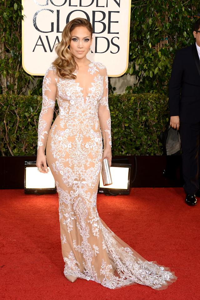 arrives at the 70th Annual Golden Globe Awards held at The Beverly Hilton Hotel on January 13, 2013 in Beverly Hills, California.