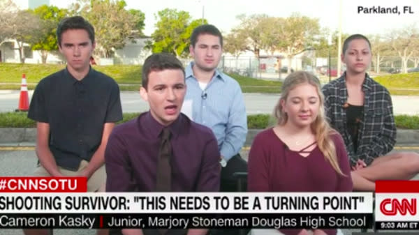 A group of students who survived the Wednesday mass shooting at a Florida high school are organizing a nationwide march to demand lawmakers make ending gun violence a priority.