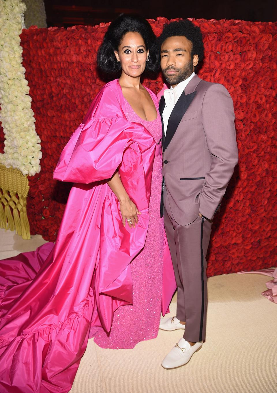 """<h1 class=""""title"""">Tracee Ellis Ross in Michael Kors Collection and Repossi jewelry and Donald Glover in Gucci</h1><cite class=""""credit"""">Photo: Getty Images</cite>"""