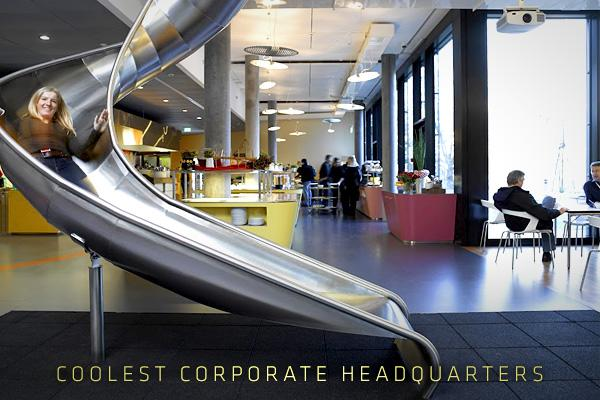 "The term ""corporate headquarters"" often brings to mind an intimidating environment, full of modular furniture, fluorescent lights and joyless gray cubicles. For many years, there were scant deviations to be found.   In the 21st century, that rule book has been tossed out the window. The new one has been written by veterans of the tech boom, the start-up boom and the dotcom boom, and this new ""old guard"" has changed the rules.   Now that corporate norms no longer apply across the board, nontraditional office spaces have become more common. Workplaces have emerged that differentiate themselves from the rest of the pack and embody the quirks and idiosyncrasies of their company founders. In other words, these workplaces are out to be cool.   Click ahead to see some of the coolest corporate headquarters in the world."