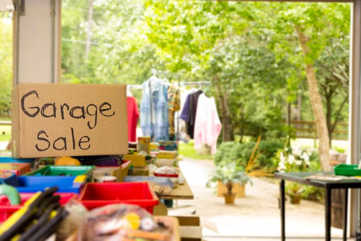 """Consider selling what you don't want instead of just tossing it out.<a href=""""https://www.huffingtonpost.com/dorothy-breininger/10-tips-for-organizing-an_b_10168578.html"""" data-rapid-parsed=""""slk"""">Garage sales</a>, eBay, Craigslist and your local NextDoor or community bulletin board can all feather your savings nest a bit. According to the research group Statistics Brain, <a href=""""https://www.statisticbrain.com/garage-sale-statistics/"""" target=""""_blank"""" data-rapid-parsed=""""slk"""">garage sales generate $4.2 million in weekly revenue</a>, Saturday is the best day of the week to hold them, and as long as you sell items for less than you paid for them, you don't need to report what you make to the Internal Revenue Service."""