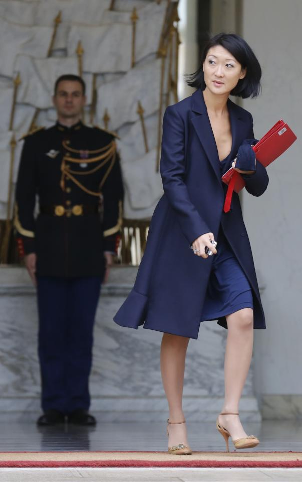 French Culture Minister Fleur Pellerin leaves after the weekly cabinet meeting at the Elysee Palace in Paris