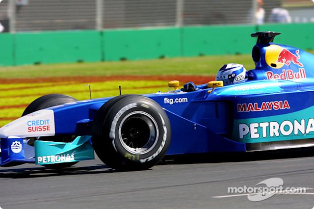 "Kimi Raikkonen in his first GP with Sauber at the 2001 Australian GP. <span class=""copyright"">Brousseau Photo</span>"