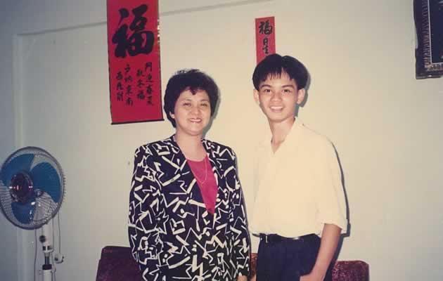 The blazer Chew's mother wore in this photo cost $500 and was a gift from him (Photo courtesy of Dennis Chew)