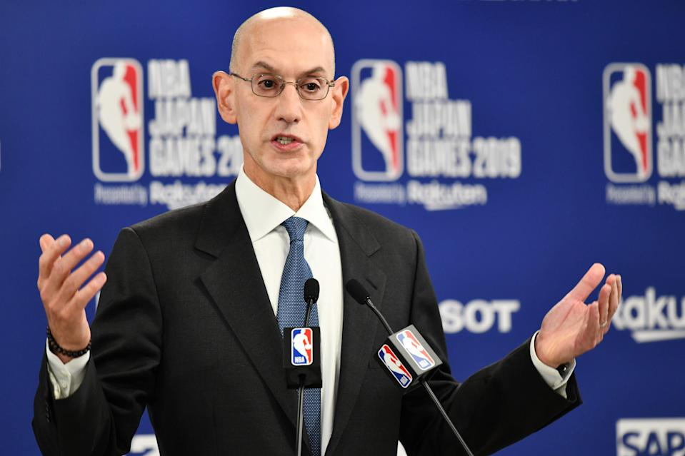 """NBA Commissioner Adam Silver said Thursday that older coaches may not be allowed to coach from the bench when play resumes in order to """"protect them"""" from the coronavirus."""