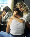 <p><b>Aired:</b> November 12, 1989 on ABC<br><b>Stars:</b> Farrah Fawcett and Ryan O'Neal<br><br><b>Ripped from the headlines about:</b> Diane Downs, a woman who murdered one of her children in 1983 and attempted to kill the other two, after she began an affair with a married former co-worker (O'Neal), who allegedly told her he didn't want children. He later broke up with Downs and returned to his wife. Fawcett earned both Emmy and Golden Globe nominations for the performance, while the movie earned an Outstanding Miniseries Emmy nomination and won a Peabody Award. Despite a brief escape, Downs remains in prison, where she is next eligible to be paroled in 2020.<br><br><i>(Credit: Getty Images)</i> </p>