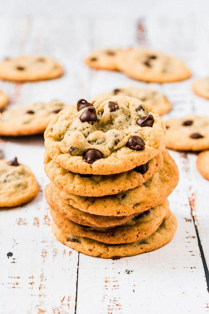 """<p>It's hard to beat a classic.</p><p>Get the recipe from <a href=""""https://www.delish.com/cooking/recipe-ideas/a32772007/toll-house-cookie-recipe/"""" rel=""""nofollow noopener"""" target=""""_blank"""" data-ylk=""""slk:Delish"""" class=""""link rapid-noclick-resp"""">Delish</a>.</p>"""