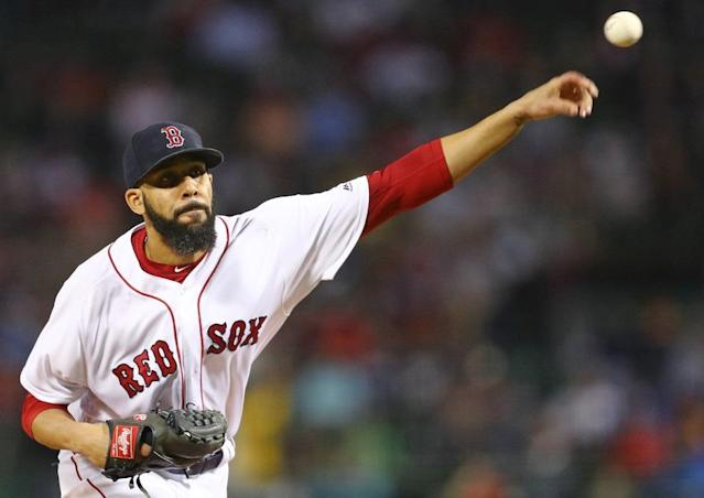 David Price tossed seven scoreless inning to lead the Red Sox to their 100th win of the season. (Getty Images)
