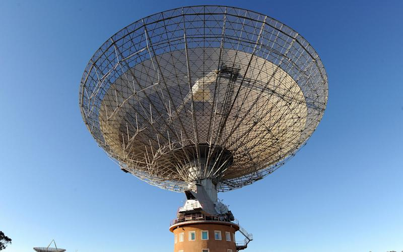 The bursts were first picked up by the Parkes radio telescope - AFP