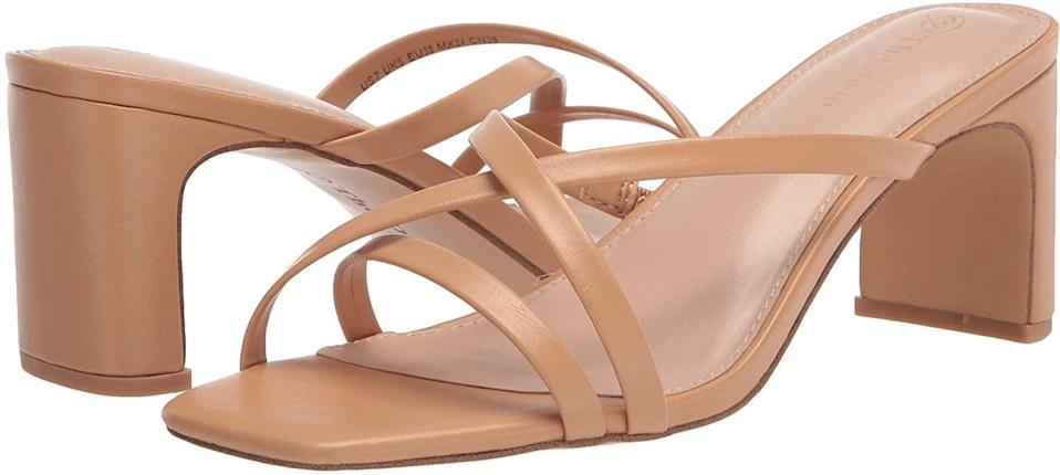 <p>This <span>The Drop Women's Amelie Strappy Square Toe Heeled Sandal</span> ($50) is a staple for the summer. It'll look great paired with sundresses, skirts, jeans, and shorts.</p>