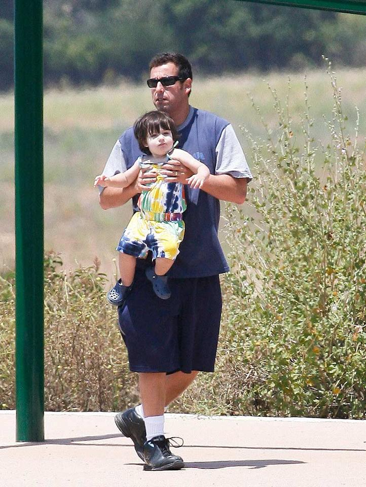 """Grown Ups"" star Adam Sandler even spent the day before Father's Day hanging out with his best girls, daughters Sunny (pictured) and Sadie. SEB/<a href=""http://www.x17online.com"" target=""new"">X17 Online</a> - June 19, 2010"