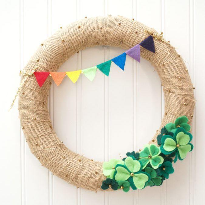 """<p>This kid-friendly craft pulls double duty: Hang it on your front door in early March, so you can enjoy your handiwork long before St. Patrick's Day.</p><p><em><a href=""""https://flamingotoes.com/lucky-shamrocks-st-patricks-day-wreath/"""" rel=""""nofollow noopener"""" target=""""_blank"""" data-ylk=""""slk:Get the tutorial at Flamingo Toes »"""" class=""""link rapid-noclick-resp"""">Get the tutorial at Flamingo Toes »</a></em></p><p><strong>RELATED:</strong> <a href=""""https://www.goodhousekeeping.com/holidays/g1072/st-patricks-day-wreaths/"""" rel=""""nofollow noopener"""" target=""""_blank"""" data-ylk=""""slk:The Best St. Patrick's Day Wreaths to DIY"""" class=""""link rapid-noclick-resp"""">The Best St. Patrick's Day Wreaths to DIY </a><br></p>"""