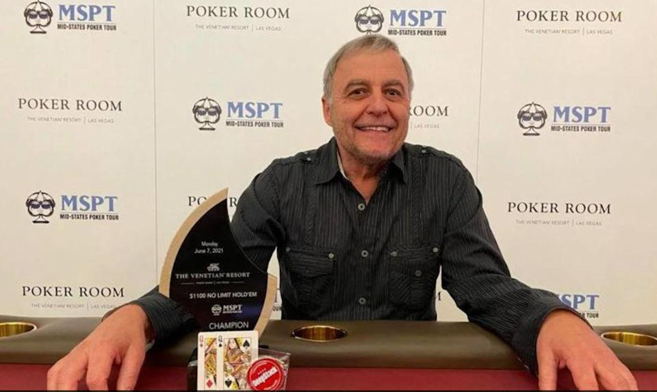 Harlan Miller skipped his niece's wedding for a Las Vegas poker tournament and came home $367,800 richer. (Photo: Mid-States Poker Tour)