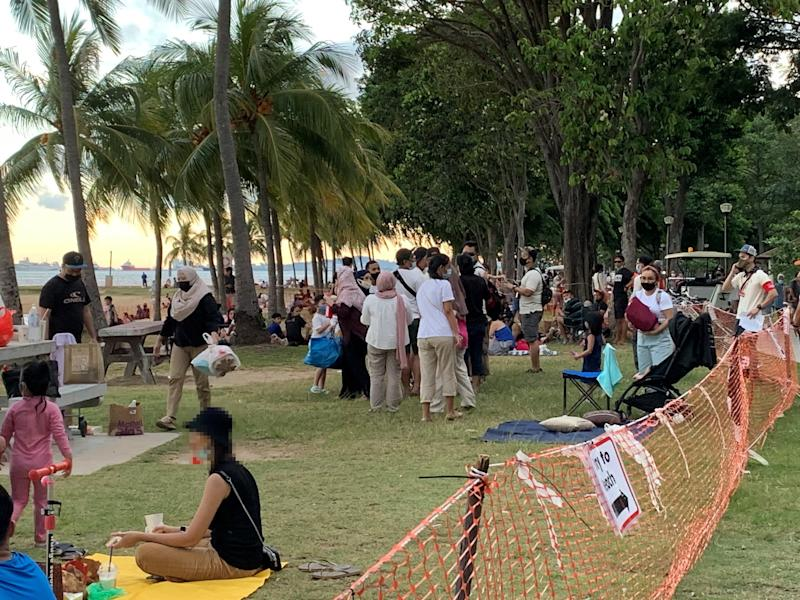 Large crowds were seen at East Coast Park over the weekend, said Environment and Water Resources Minister Masagos Zulkifli on 21 July 2020. (PHOTO: NParks)