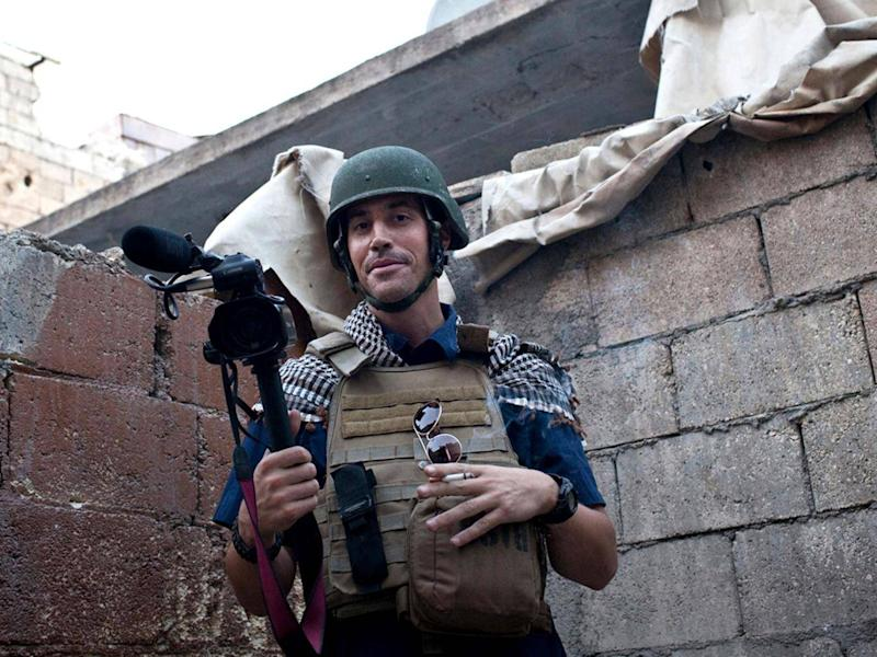 American journalist James Foley while covering the civil war in Syria (AP)