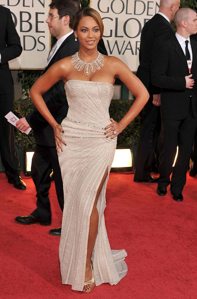 """Beyonce Knowles arrives at the 66th Annual Golden Globe Awards in Beverly Hills. Steve Granitz/<a href=""""http://www.wireimage.com"""" target=""""new"""">WireImage.com</a> - January 11, 2009"""