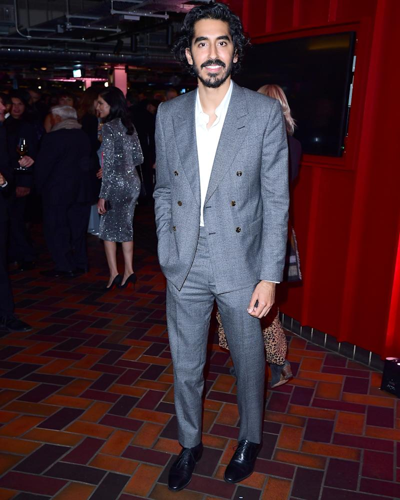 "Just ask Dev Patel: The words ""double-breasted suit"" and ""party"" don't have to be enemies."