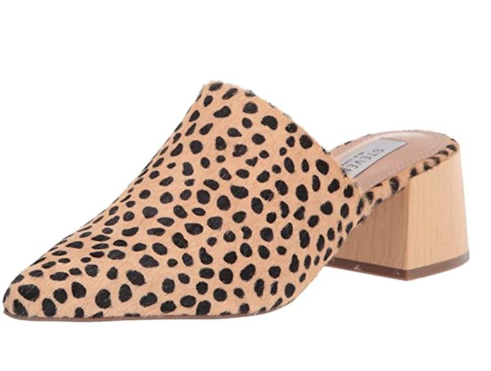 """""""I really got into mules &mdash; the wide block heels are comfortable and super <a href=""""https://amzn.to/3hX1l87"""" rel=""""nofollow noopener"""" target=""""_blank"""" data-ylk=""""slk:easy to slip on"""" class=""""link rapid-noclick-resp"""">easy to slip on</a> and off &mdash; last spring. They&rsquo;re also great for those days when you need a pedicure.""""<strong> - Gonzalez</strong><br><br><a href=""""https://amzn.to/3hX1l87"""" rel=""""nofollow noopener"""" target=""""_blank"""" data-ylk=""""slk:Originally $93, get them on sale for $56"""" class=""""link rapid-noclick-resp"""">Originally $93, get them on sale for $56</a>. Prices might vary depending on the size and color."""