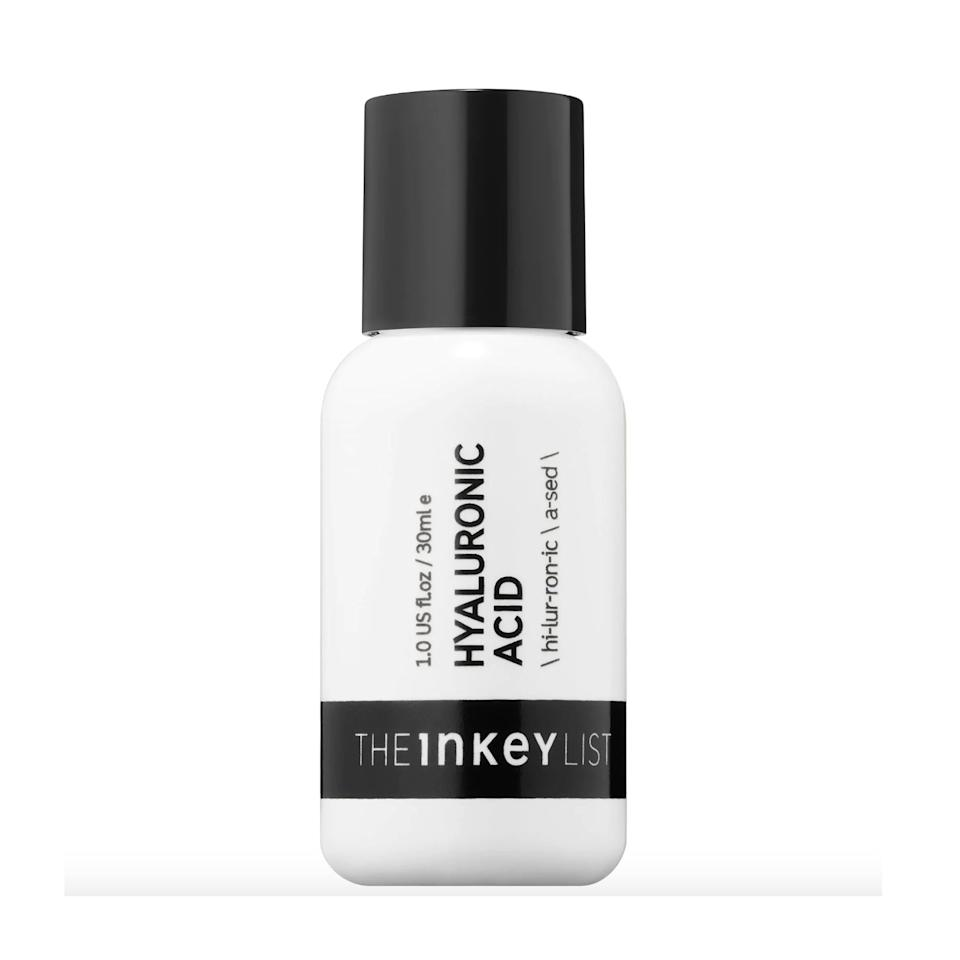 """<p>At just $8, The Inkey List's Hyaluronic Acid Serum is a total steal. Slather a dime-sized dose of this weightless formula on whenever your skin is feeling dry, dehydrated, or distressed, and you'll notice an instant improvement.</p> <p><strong>$8</strong> (<a href=""""https://shop-links.co/1677560151938758912"""" rel=""""nofollow"""">Shop Now</a>)</p>"""