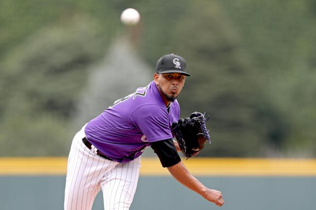 You might normally avoid Rockies pitchers, but German Marquez could be worth the gamble if you're trying to make up ground.(Photo by Matthew Stockman/Getty Images)