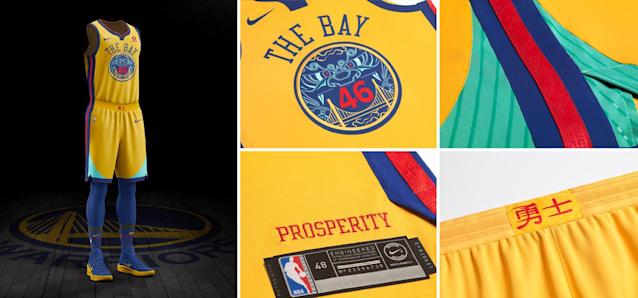 Golden State Warriors City uniform. (Nike)