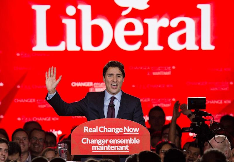 Canadian Prime Minister Justin Trudeau -- a former schoolteacher and the son of a popular prime minister -- has touted a multilateral foreign policy, and a more transparent governing style than his predecessor (AFP Photo/Nicholas Kamm)