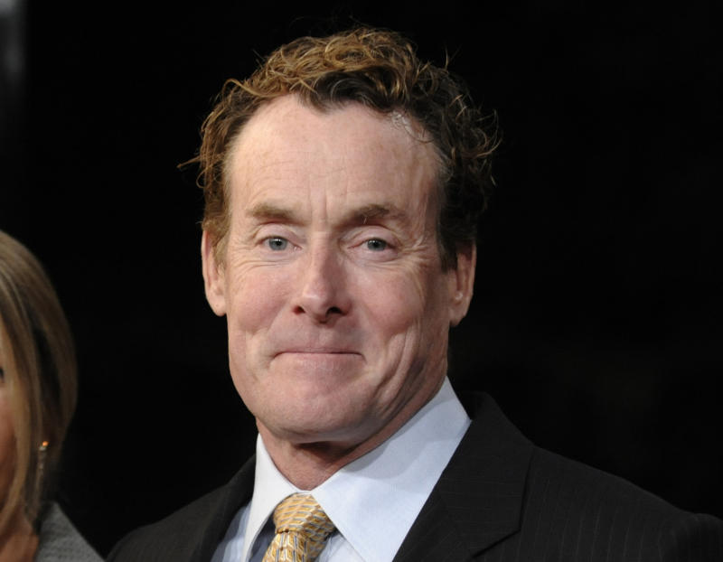 """FILE - This Dec. 9, 2008 file photo shows actor John C. McGinley at the premiere of the film """"Gran Turino"""" at Warner Bros. Studios in Burbank, Calif. McGinley will join the cast of David Mamet's play """"Glengarry Glen Ross,"""" portraying Dave Moss. The play will begin previews on Tuesday, Oct. 16 and an official opening date is set for Sunday, Nov. 11 at the Gerald Schoenfeld Theatre in New York. (AP Photo/Chris Pizzello, file)"""