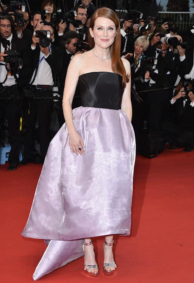 CANNES, FRANCE - MAY 15:  Actress Julianne Moore attends the Opening Ceremony and Premiere of 'The Great Gatsby' at The 66th Annual Cannes Film Festival at Palais des Festivals on May 15, 2013 in Cannes, France.   (Photo by George Pimentel/WireImage)
