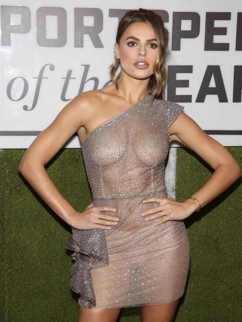 Brook Nader attends the Sports Illustrated Sportsperson of the Year Awards at the Ziegfeld Ballroom on Monday, Dec. 9, 2019, in New York. (Photo by Andy Kropa/Invision/AP)