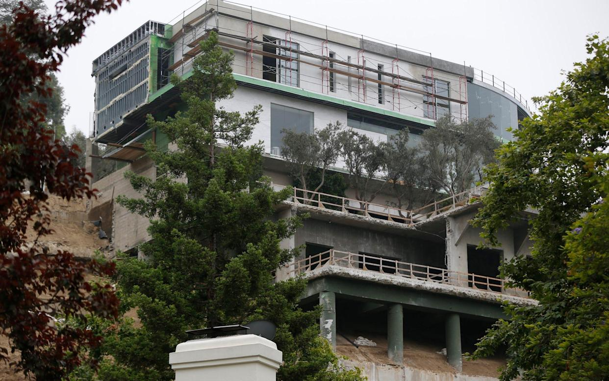 The unfinished mega-mansion has been dubbed the