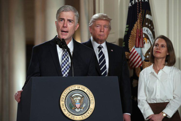 Judge Neil Gorsuch speaks after being nominated by President Donald Trump for the Supreme Court, Jan. 31, 2017, in the East Room of the White House in Washington. Gorsuch