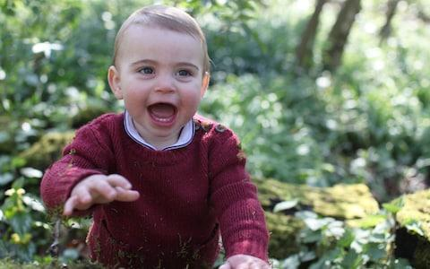 The Duchess of Cambridge's photograph of Prince Louis for his first birthday - Credit: PA